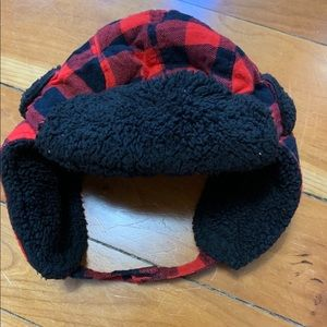 Buffalo plaid winter hat